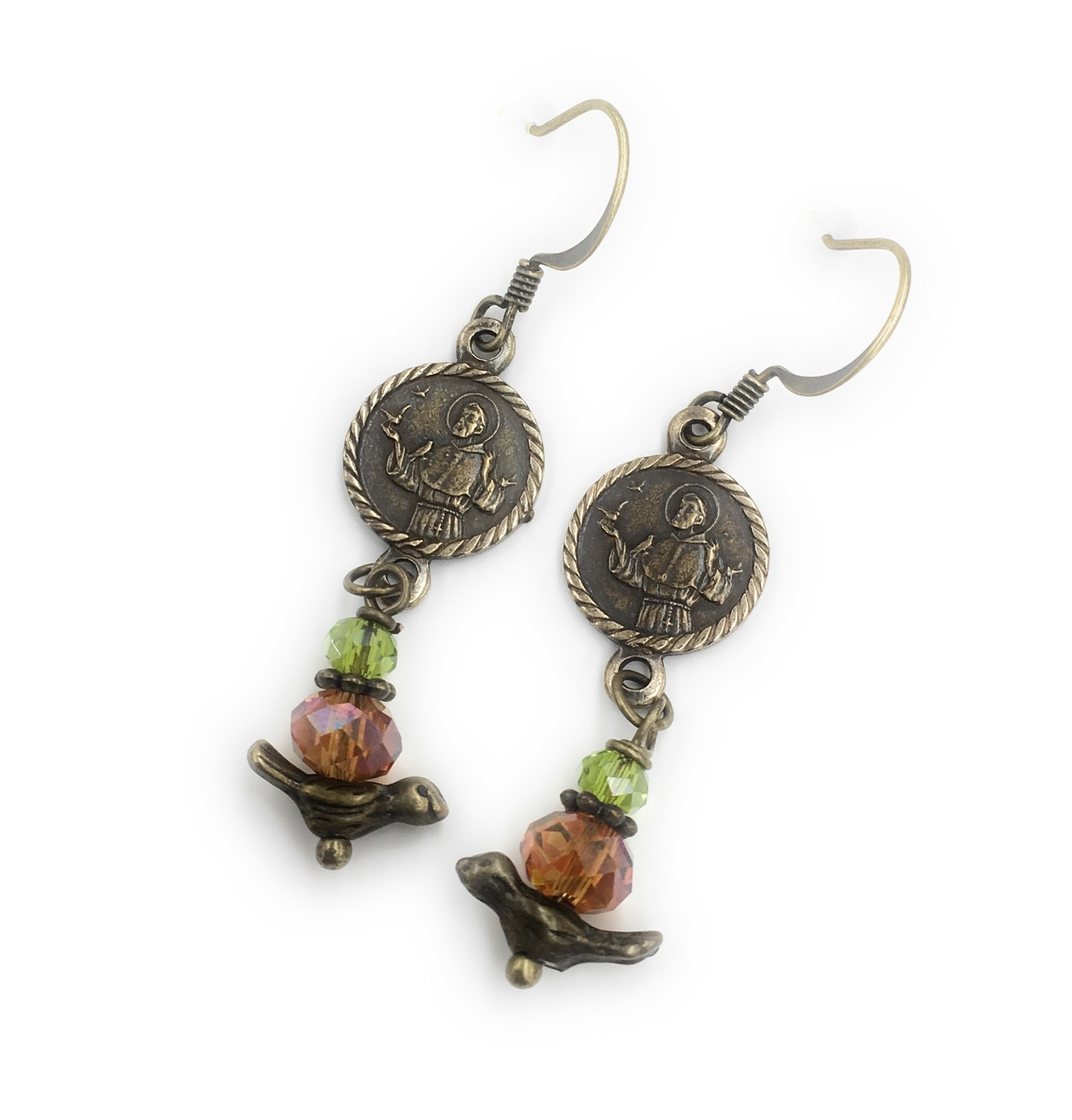Gail's Design Vintage St. Francis Earrings