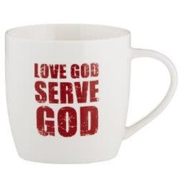 Christian Brands Every Day Grace Love God Serve God Cafe Mug