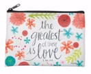 BrownlowGift Coin Purse-The Greatest Is Love (6 x 4.25)