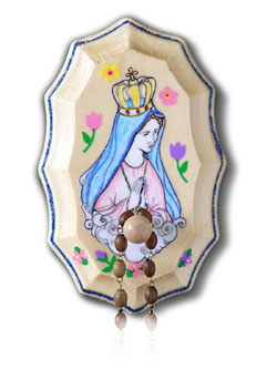 Illuminated Ink Our Lady of Fatima Wooden Rosary Holder Kit
