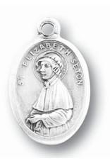 St. Elizabeth Ann Seton Oxidized Medal