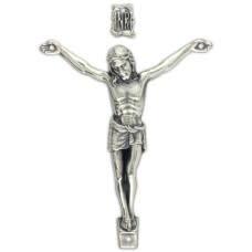 Gifts Catholic Silver Oxidized Corpus - 2 3/4 Inch