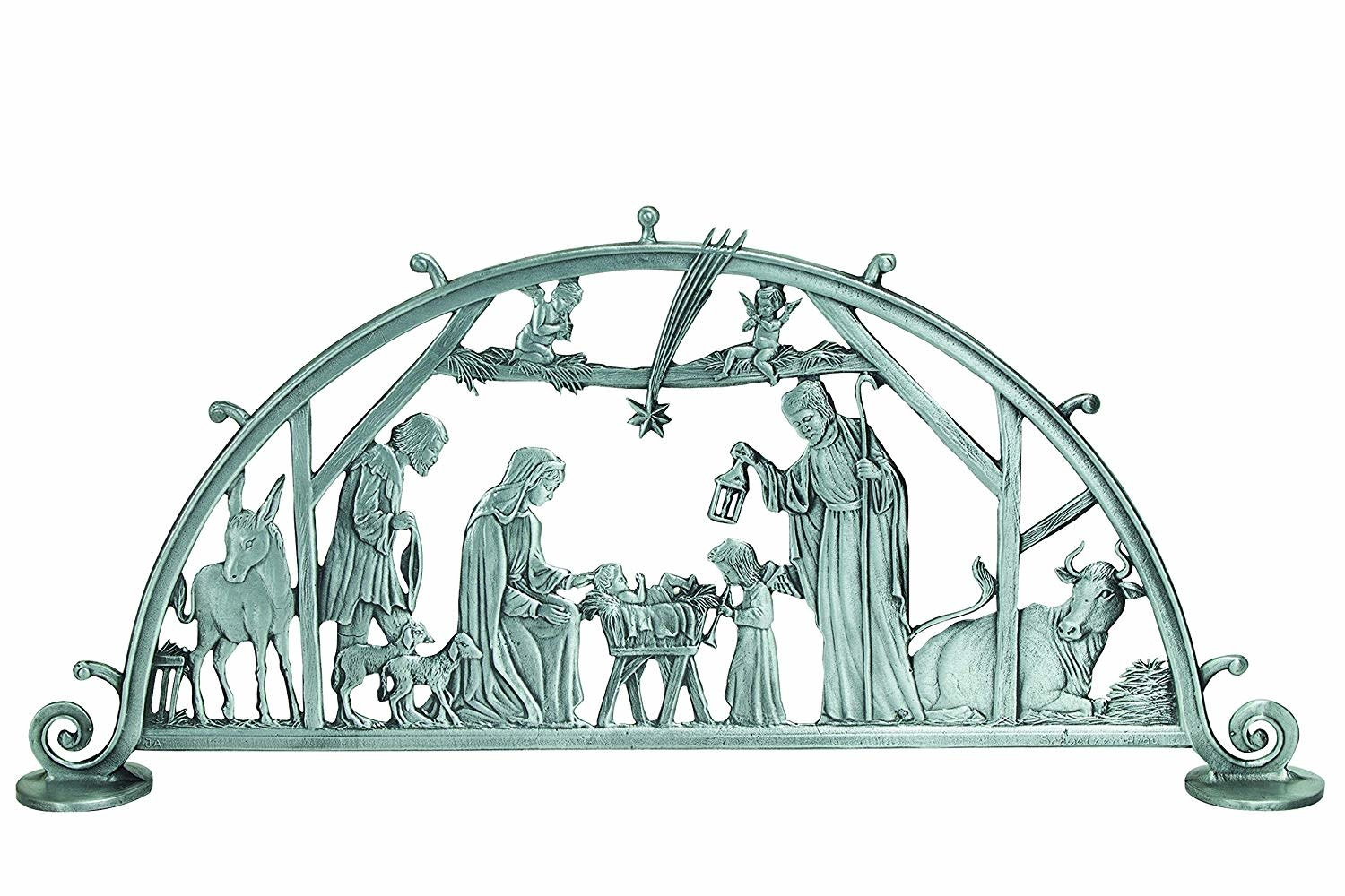 Cathedral Art Large Silver Standing Nativity Scene