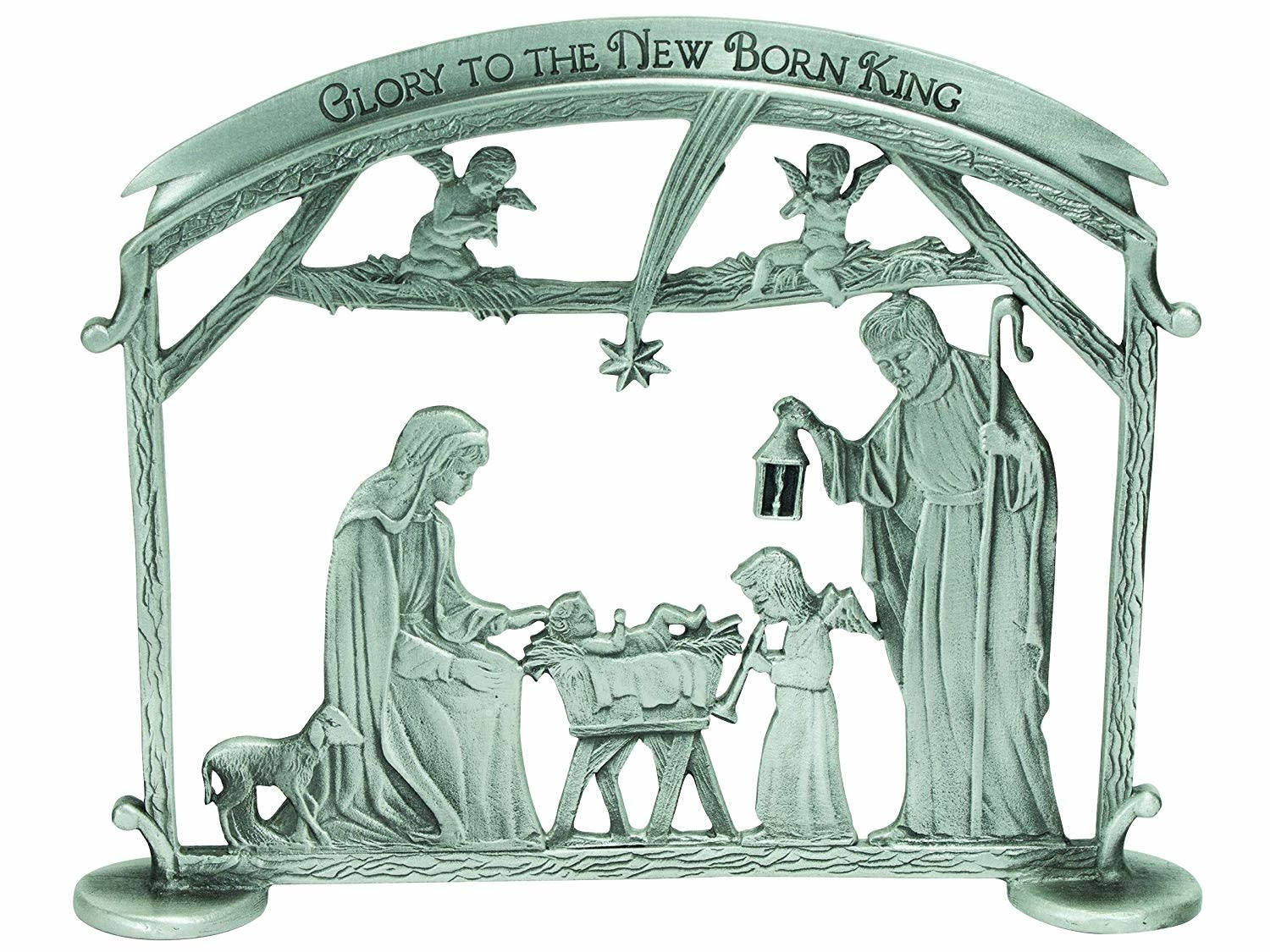 Cathedral Art Silver Standing Holy Family Scene