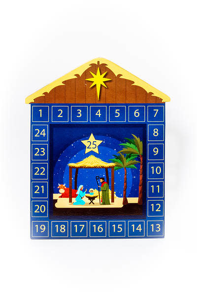 Cathedral Art Nativity Christmas Countdown Magnetic Calendar