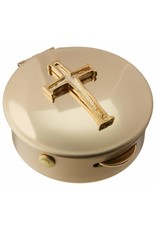 Cathedral Art Latin Cross Pyx (6-9 Hosts)