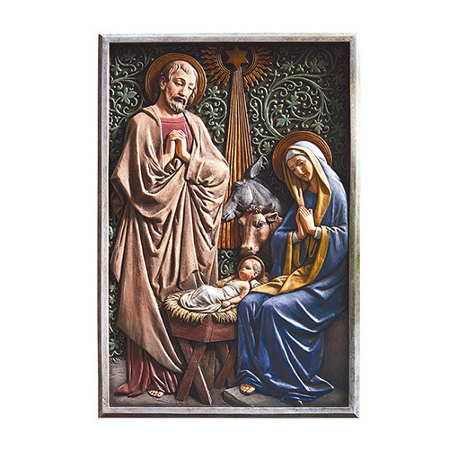 Christian Brands Nativity Plaque Full Color