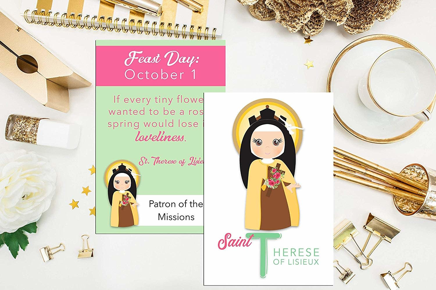 Meyer Market Designs Note Cards: St. Therese Lisieux