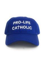 """Simply Catholic Blue """"Pro-Life Catholic"""" Hat"""
