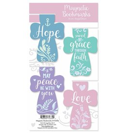 Angel Star Magnetic Bookmark Crosses: Hope, ...Faith, ...Peace..., Love (Set of 6)