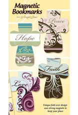 Angel Star Magnetic Bookmark Floral Crosses: Hope, Faith, Peace, Love (Set of 4)