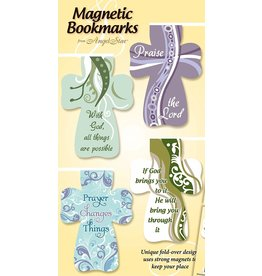 Angel Star Magnetic Bookmark Crosses: Inspirational Sayings (Set of 4)