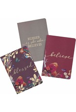Christian Art Gifts Blessed is She Who Believes Notebooks (Set of 3)