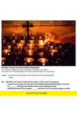 40 Days Prayer for the Faithful Departed (Printout)