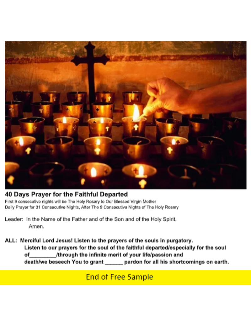 40 Days Prayer for the Faithful Departed (PDF)