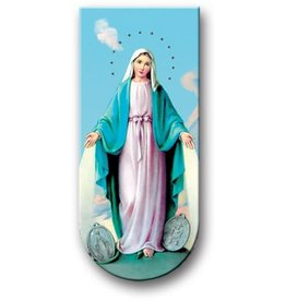 WJ Hirten Magnetic Bookmark Our Lady of the Miraculous Medal With St. Bernard's Prayer