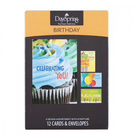 DaySpring Birthday Cards: Bright (Box of 12)