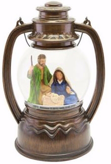 African American Expressions Christmas Lantern-Holy Family