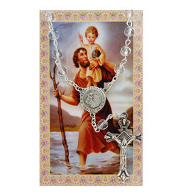 McVan Auto Rosary with Prayer Card St. Christopher