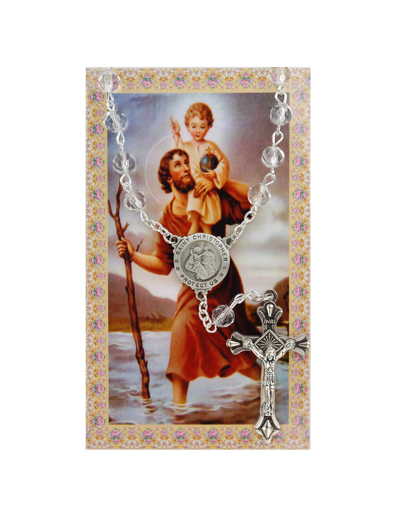 McVan Auto Rosary with Prayer Card St. Christopher