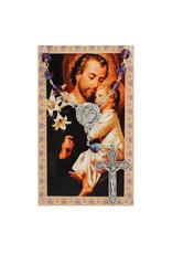 McVan Auto Rosary with Prayer Card St. Joseph
