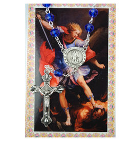 McVan Auto Rosary with Prayer Card St. Michael