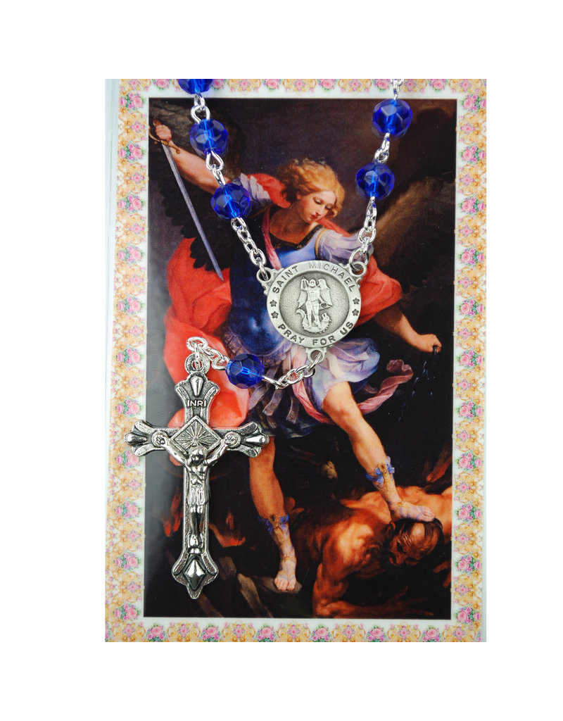 McVan Auto Rosary with Prayer Card St. Michael