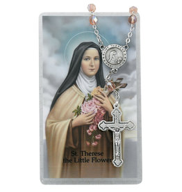 McVan Auto Rosary with Prayer Card St. Therese