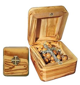 The Printery House Jerusalem Olivewood Rosary and Box