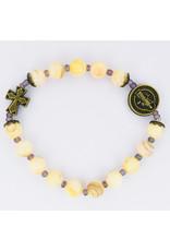 McVan Cream River Pearl St. Benedict Stretch Bracelet