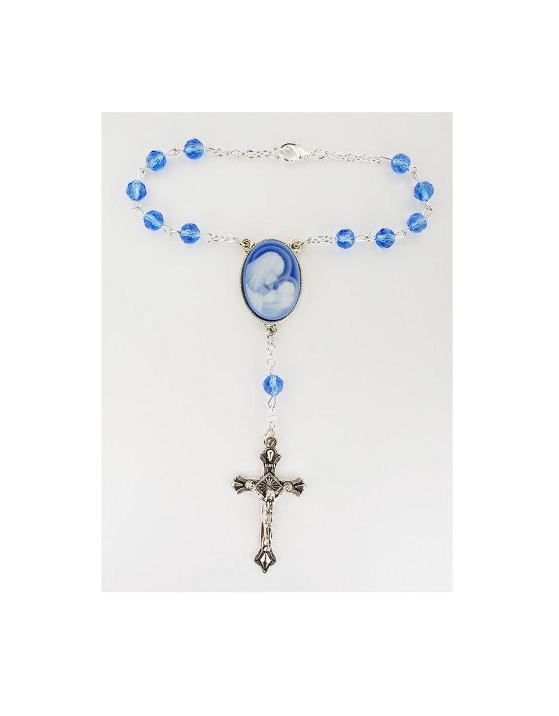 McVan Blue Cameo Auto Rosary