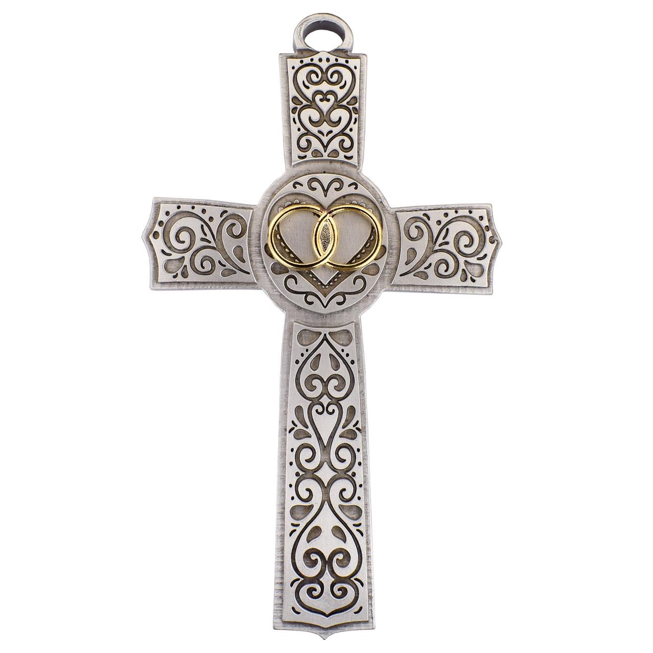 "McVan 6"" Filigree Wedding Cross"