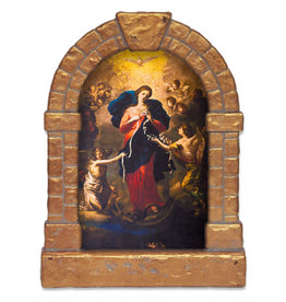 Nelson Fine Art Mary Undoer of Knots Outdoor Garden Shrine