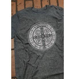 Romantic Catholic St. Benedict T-shirt Small