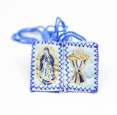 Religious Art Inc Our Lady of Guadalupe and Eucharist Scapular
