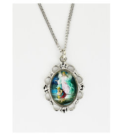 "McVan Guardian Angel Colorful Pendant on 16"" Chain Necklace"