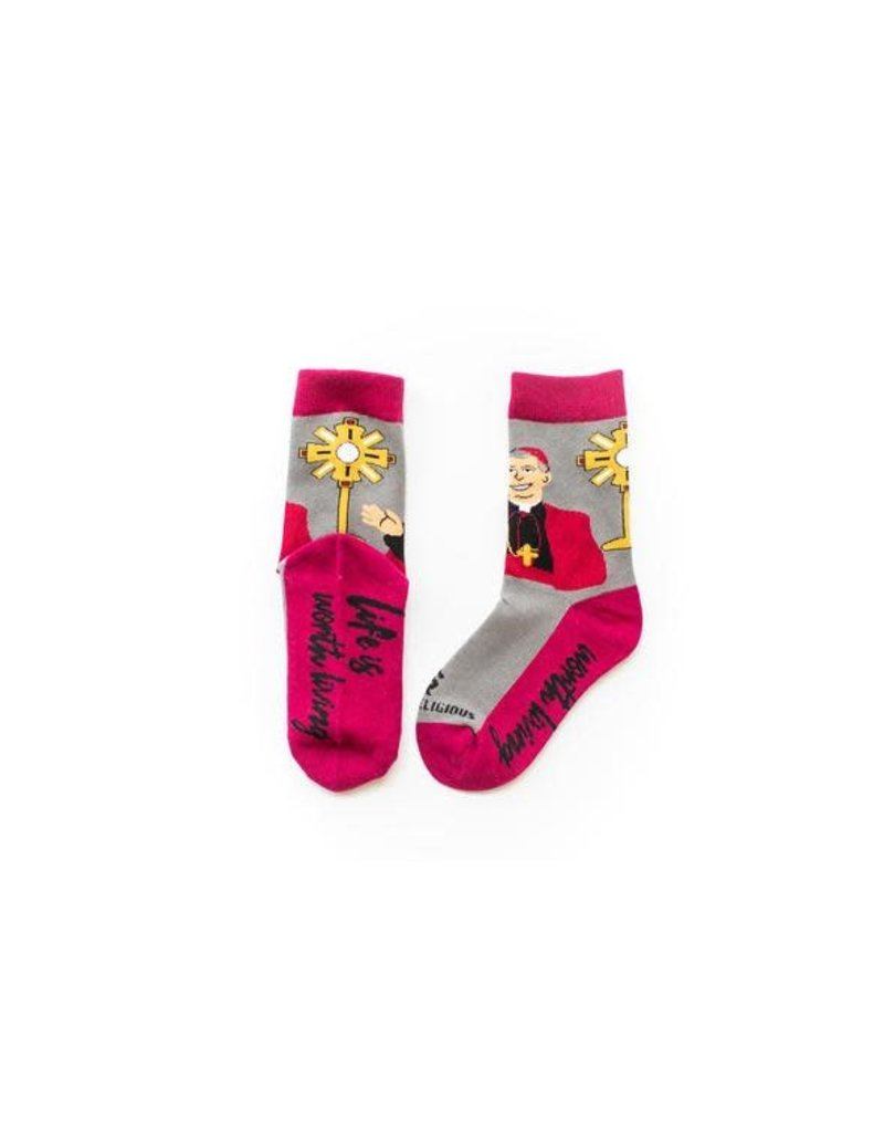 Sock Religious Archbishop Fulton Sheen Kids Socks
