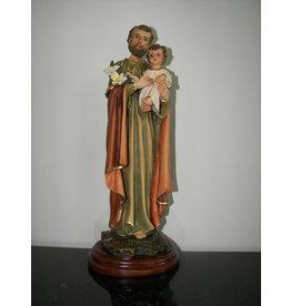 "Fiat Imports 10"" St. Joseph Holding Baby Jesus Statue"