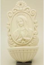 Liffey Artefacts BONE CHINA & CERAMICS - WALL HANGING - CELTIC CROSSES - CERAMIC - MADONA WATERFONT WHITE 6.5 x 3