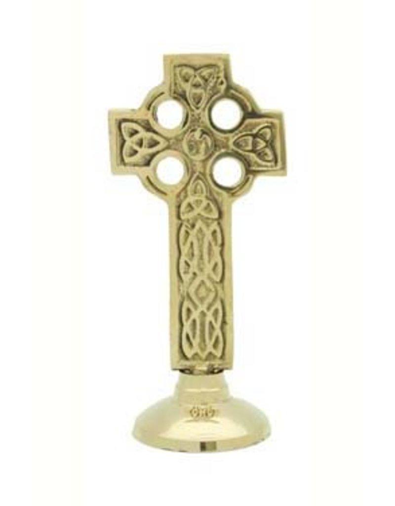 Liffey Artefacts Brass Celtic Cross Font
