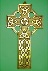 Liffey Artefacts Brass Celtic Cross Plain (Large)