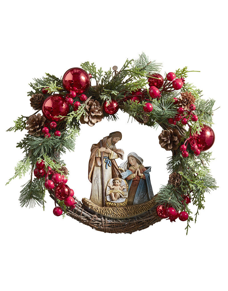 Christian Brands Nativity Wreath