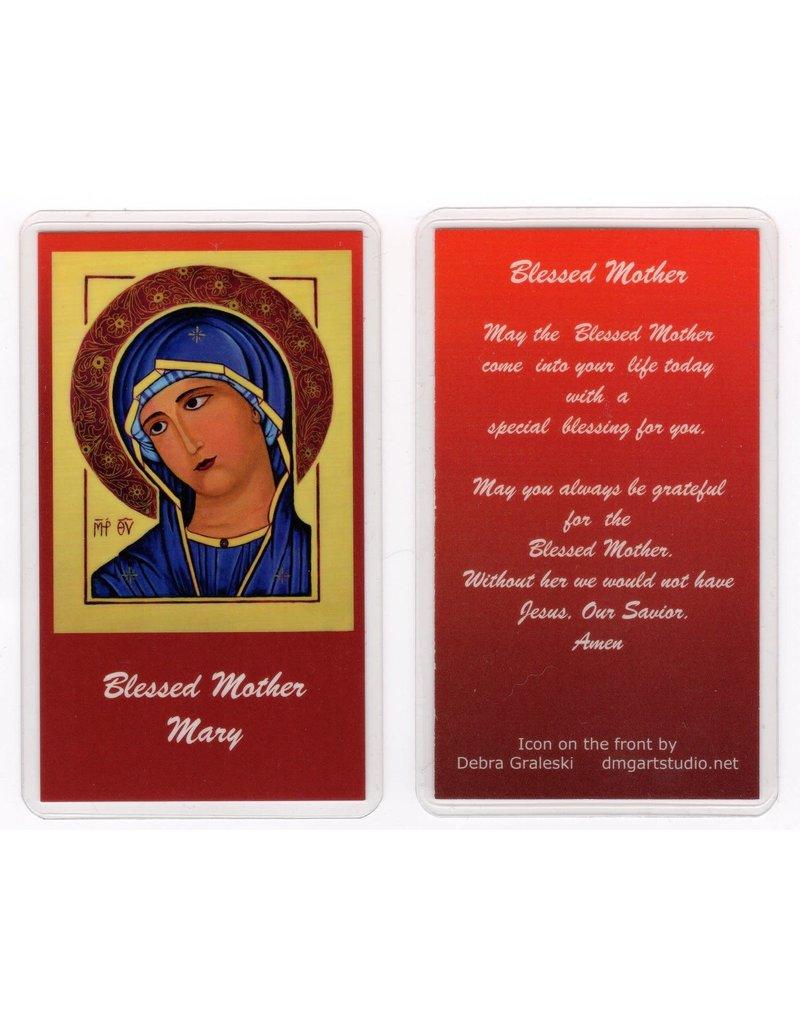 Debra Graleski Blessed Mother Icon Prayer Card