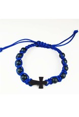 McVan Blue Corded Cross Bracelet Adult Card