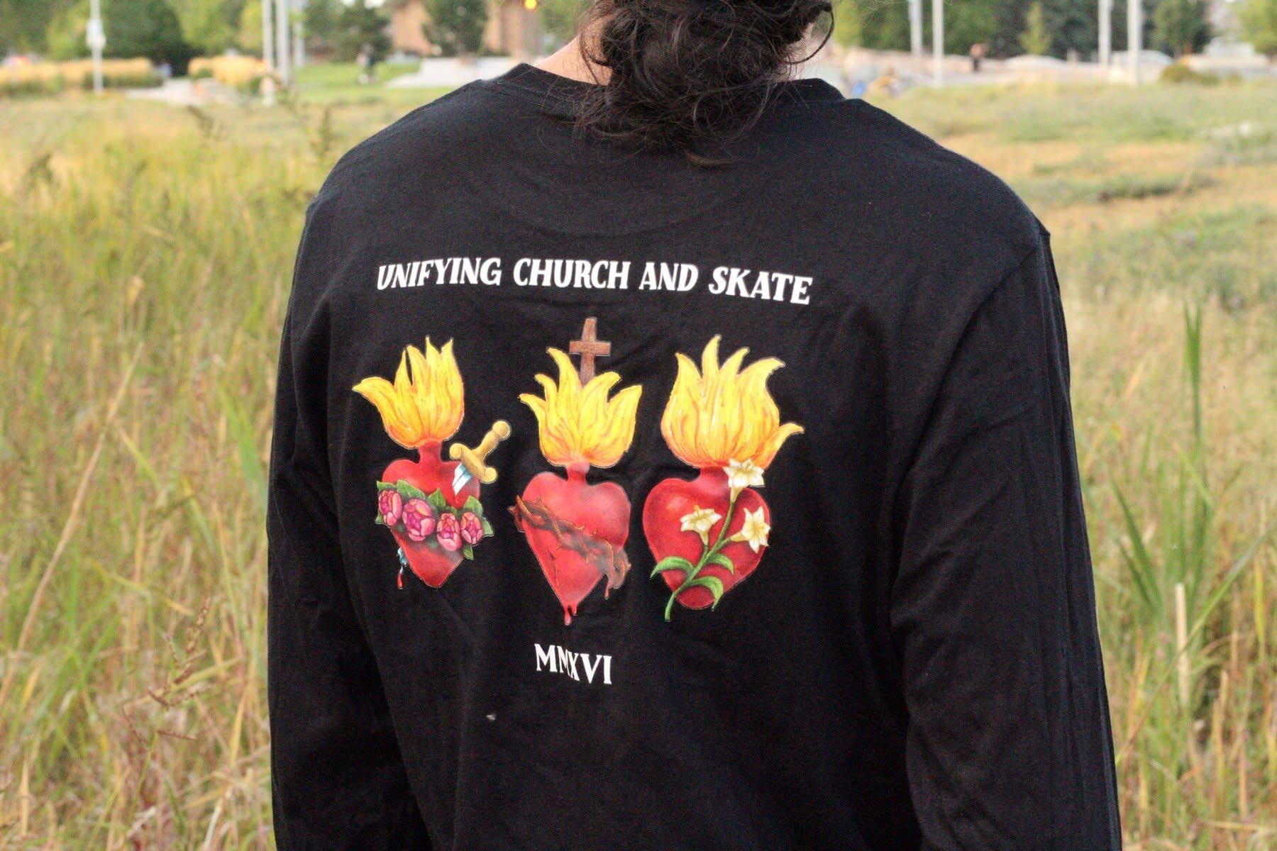 Motherboards Unifying Church and Skate T Shirt (Extra Large)