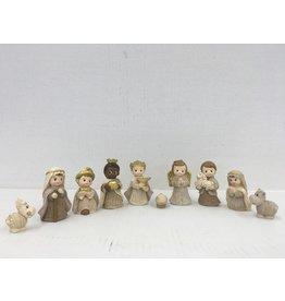 WJ Hirten Holy Nativity Set, 10 Piece Christmas Nativity Figures for Kids 2