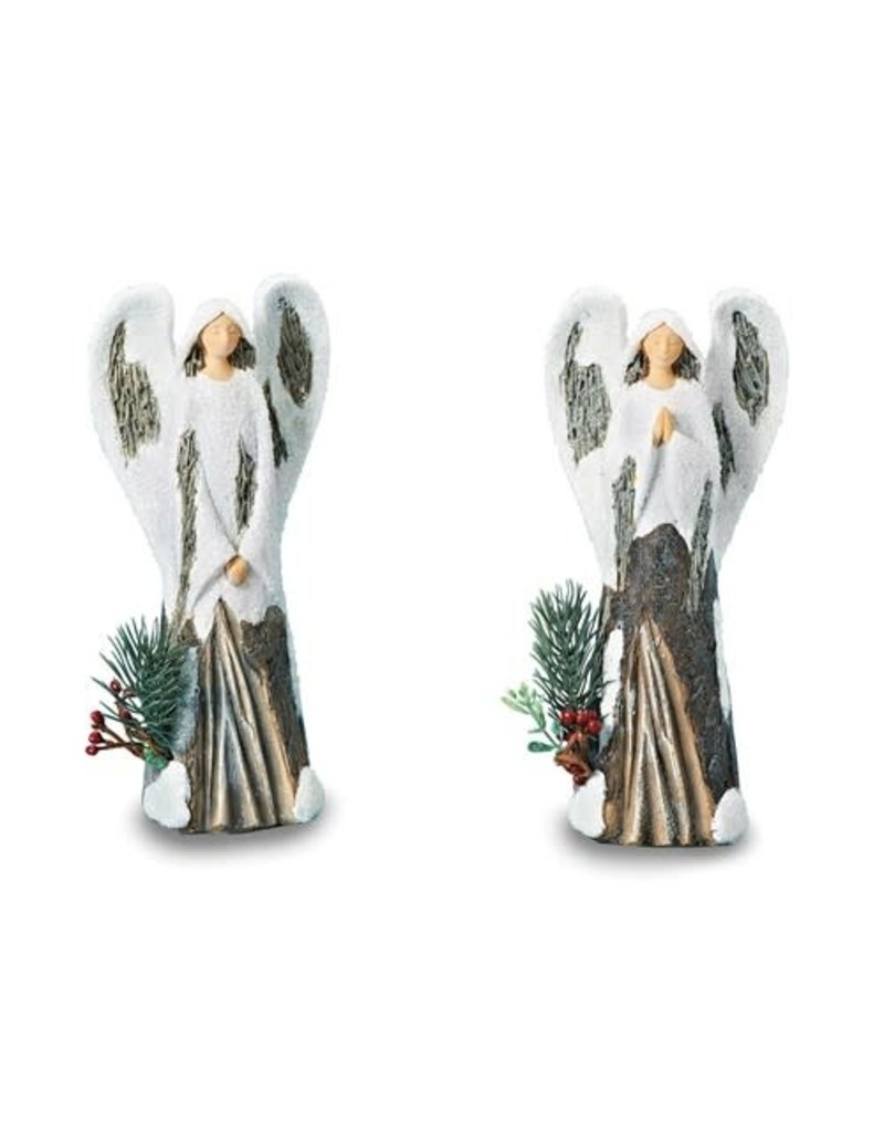 Angel With Snow Figurine