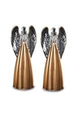 Roman, Inc Set Of 2 Acrylic With Gold Angel Figurines