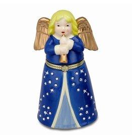 Porcelain Music Box With Swarovski Elements Angel