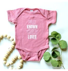 Etch Known & Loved Onesie in Mauve (6M)